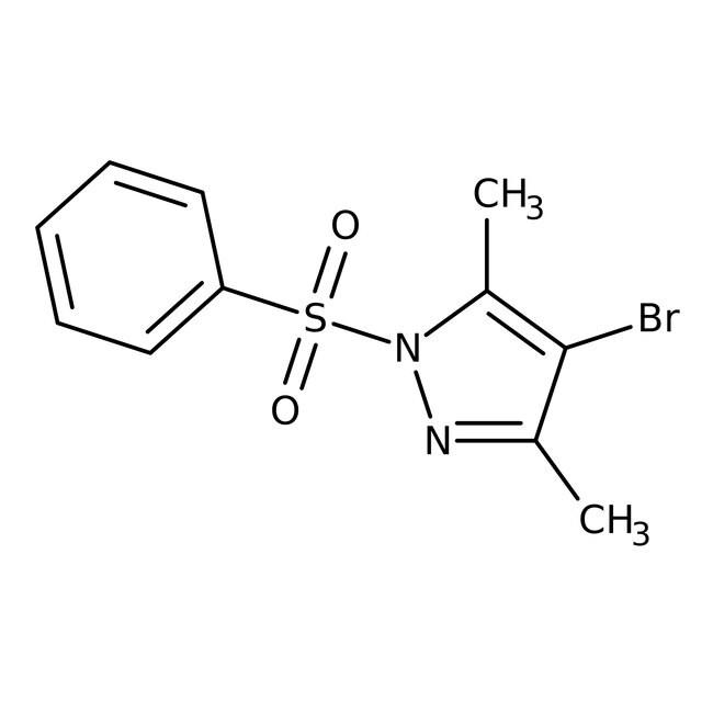 Alfa Aesar™4-Bromo-3,5-dimethyl-1-phenylsulfonyl-1H-pyrazole, 95% 1g Alfa Aesar™4-Bromo-3,5-dimethyl-1-phenylsulfonyl-1H-pyrazole, 95%