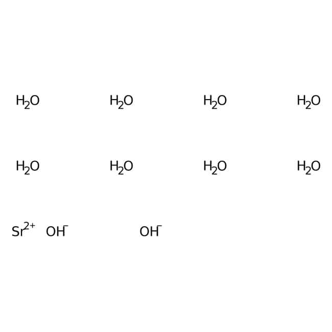 Strontium hydroxide octahydrate, 98%, pure, ACROS Organics™ 1kg; Glass bottle Strontium hydroxide octahydrate, 98%, pure, ACROS Organics™