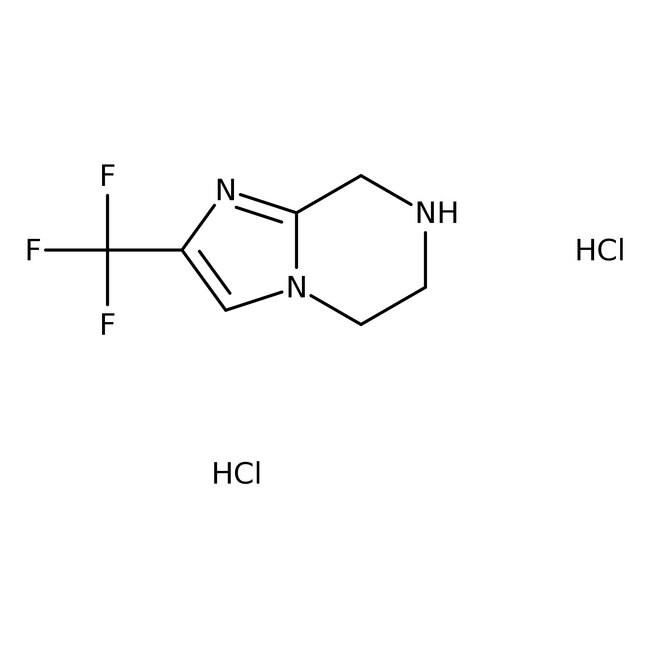 2-(Trifluoromethyl)-5,6,7,8-tetrahydroimidazo[1,2-a]pyrazine dihydrochloride, 95%, ACROS Organics™  2-(Trifluoromethyl)-5,6,7,8-tetrahydroimidazo[1,2-a]pyrazine dihydrochloride, 95%, ACROS Organics™