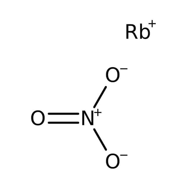 Rubidium nitrate, 99.8%, pure, ACROS Organics™ 10g; Glass bottle Rubidium nitrate, 99.8%, pure, ACROS Organics™