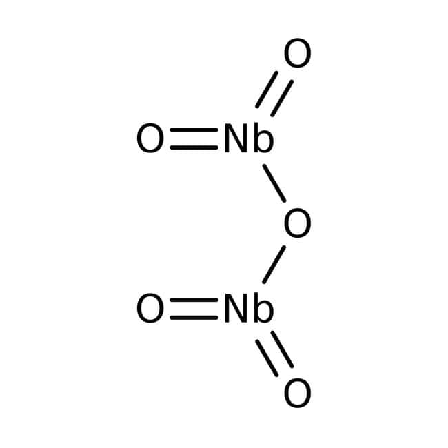 Niobium(V) oxide, 99.99%, (trace metal basis), ACROS Organics™ 10g; Glass bottle Niobium(V) oxide, 99.99%, (trace metal basis), ACROS Organics™