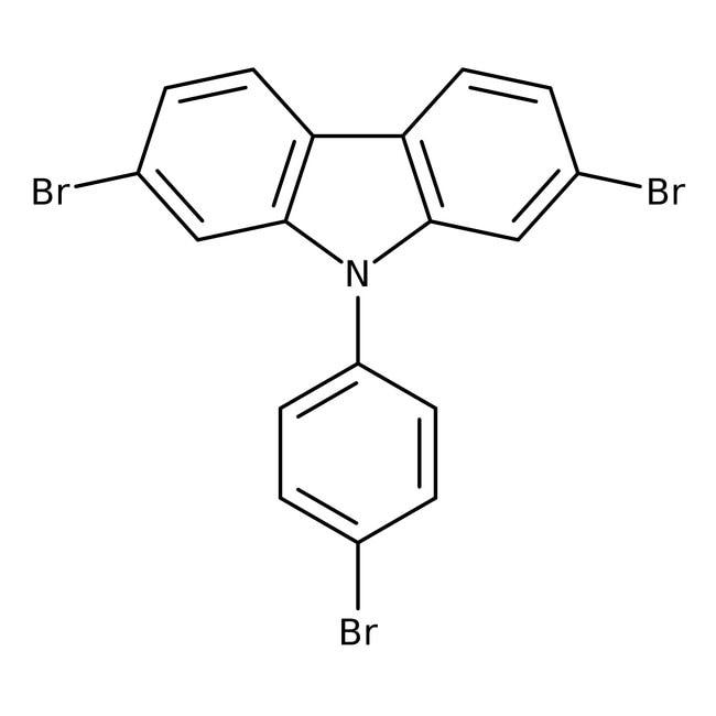 2,7-Dibromo-9-(4-bromophenyl)-9H-carbazole 98.0 %, TCI America