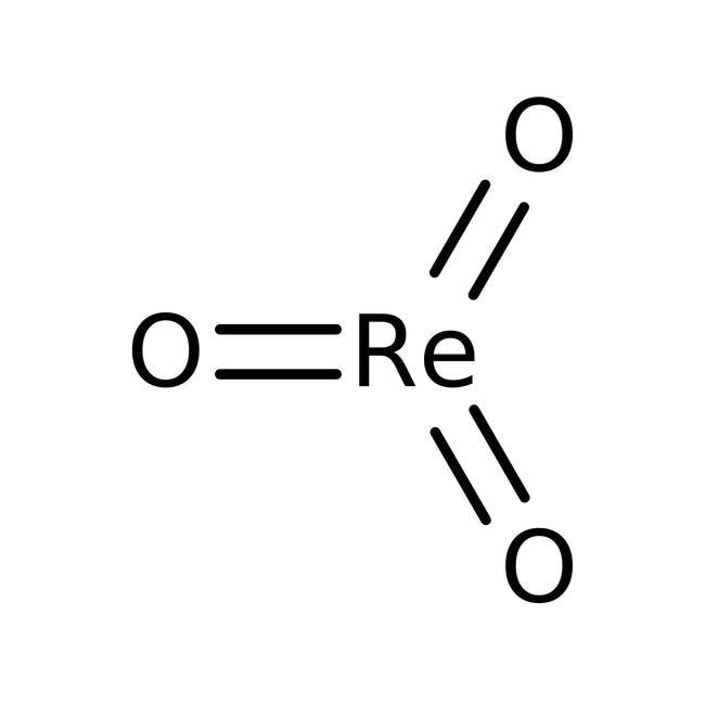 Rhenium(VI) oxide, 99.9% (metals basis), Alfa Aesar™ 1g Rhenium(VI) oxide, 99.9% (metals basis), Alfa Aesar™