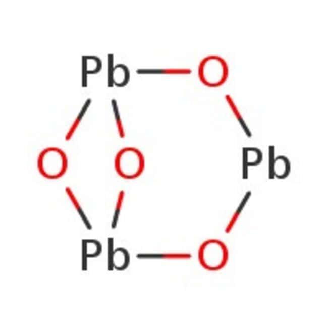 Lead(II,IV) oxide, red, 98%, ACROS Organics™ 500g; Glass bottle Lead(II,IV) oxide, red, 98%, ACROS Organics™