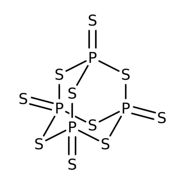 Phosphorus pentasulfide, 98+%, ACROS Organics™ 500g Phosphorus pentasulfide, 98+%, ACROS Organics™