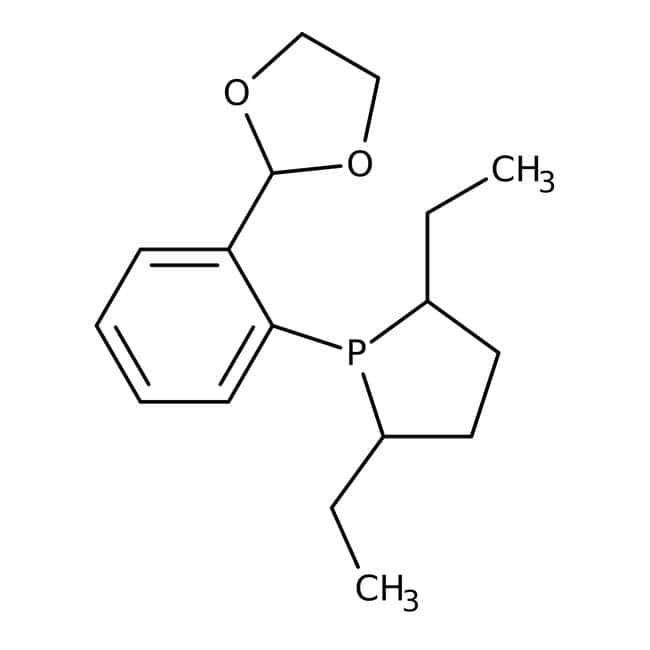 (2S,5S)-1-(2-(1,3-Dioxolan-2-yl)phenyl)-2,5-diethylphospholane, 97%, ACROS Organics