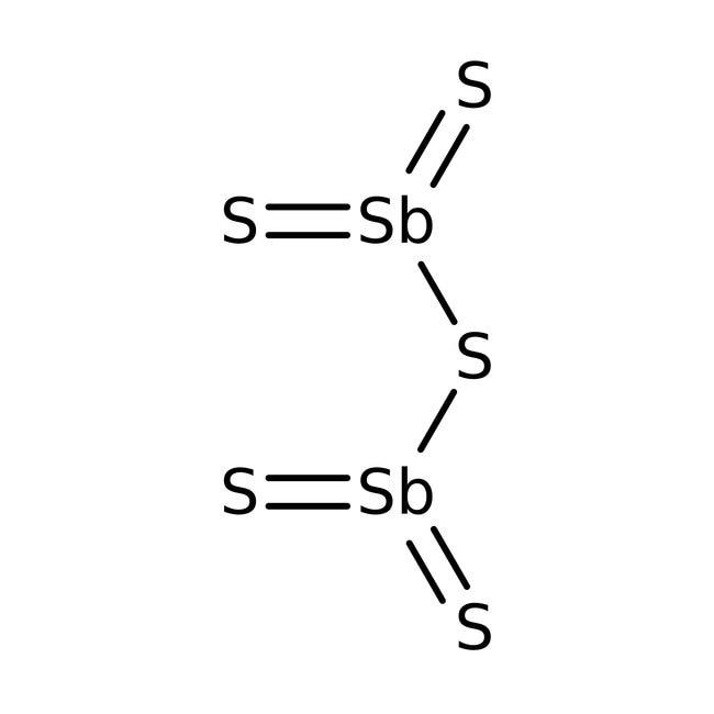 Antimony pentasulfide, pure, ACROS Organics™ 1kg Antimony pentasulfide, pure, ACROS Organics™