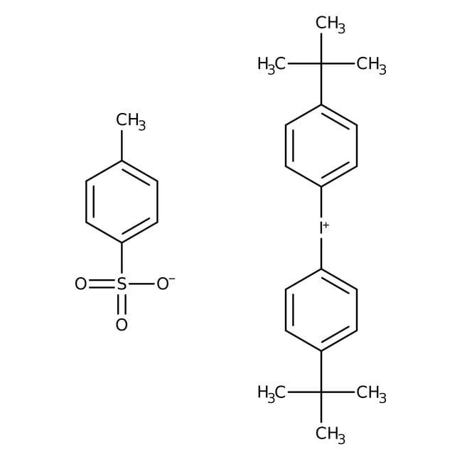 Alfa Aesar™Bis(4-tert-butylphenyl)iodonium p-toluenesulfonate, Electronic grade, ≥99% (metals basis) 250mg Alfa Aesar™Bis(4-tert-butylphenyl)iodonium p-toluenesulfonate, Electronic grade, ≥99% (metals basis)