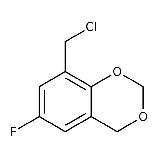 8-(chloromethyl)-6-fluoro-4H-1,3-benzodioxine, 97%, Maybridge 10g 8-(chloromethyl)-6-fluoro-4H-1,3-benzodioxine, 97%, Maybridge