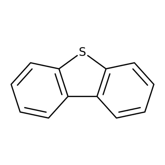 Dibenzothiophene, 98%, ACROS Organics™ 250g; Plastic bottle Dibenzothiophene, 98%, ACROS Organics™