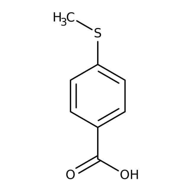 Alfa Aesar™Ácido 4-(metiltio)benzoico, 97% 5g Alfa Aesar™Ácido 4-(metiltio)benzoico, 97%