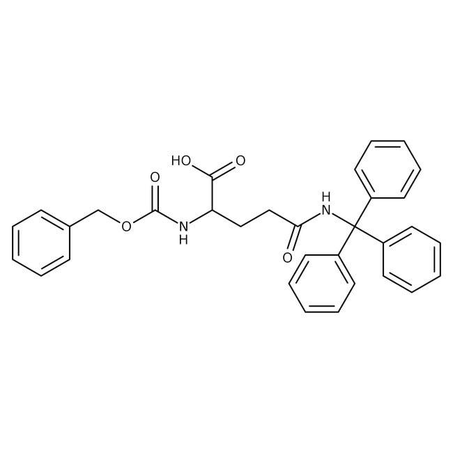 Alfa Aesar™Nalpha-Benzyloxycarbonyl-Ndelta-trityl-L-glutamine, 98% 25g Alfa Aesar™Nalpha-Benzyloxycarbonyl-Ndelta-trityl-L-glutamine, 98%