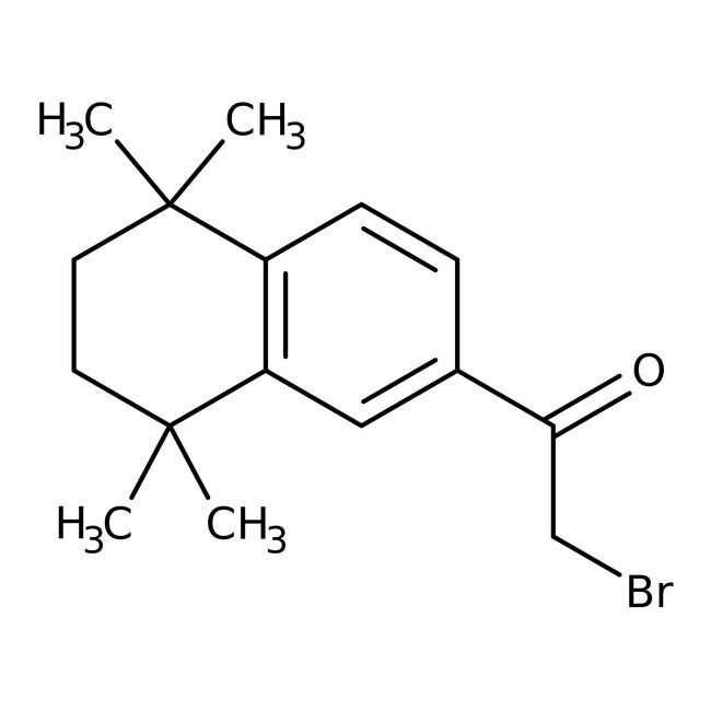 2-Bromo-1-(5,5,8,8-tetramethyl-5,6,7,8-tetrahydronaphthalen-2-yl)ethan-1-one, 97%, Maybridge Amber Glass Bottle; 1g 2-Bromo-1-(5,5,8,8-tetramethyl-5,6,7,8-tetrahydronaphthalen-2-yl)ethan-1-one, 97%, Maybridge