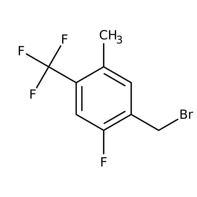Alfa Aesar™2-Fluoro-5-methyl-4-(trifluoromethyl)benzyl bromide, 97% 1g Alfa Aesar™2-Fluoro-5-methyl-4-(trifluoromethyl)benzyl bromide, 97%