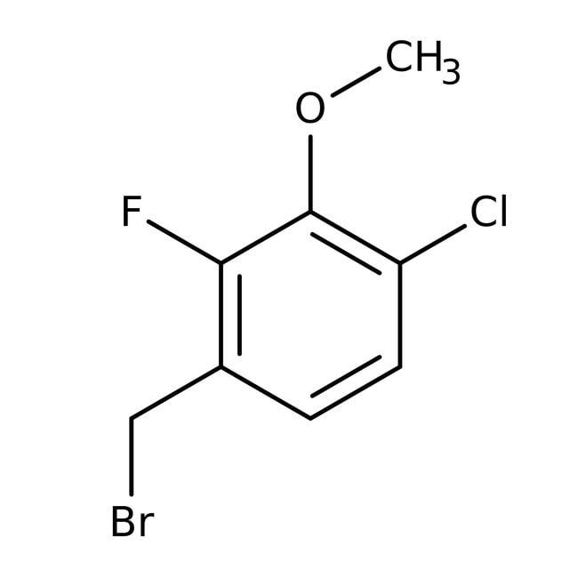 Alfa Aesar™4-Chloro-2-fluoro-3-methoxybenzyl bromide, 97% 250mg Alfa Aesar™4-Chloro-2-fluoro-3-methoxybenzyl bromide, 97%