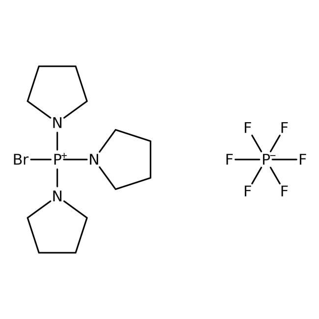 Bromo-tris-pyrrolidino-phosphonium hexafluorophosphate, 97%, ACROS Organics™