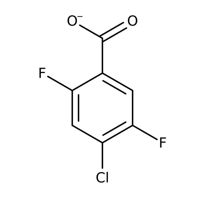 Alfa Aesar™4-Chlor-2,5-difluorbenzoesäure, 98% 25g Alfa Aesar™4-Chlor-2,5-difluorbenzoesäure, 98%