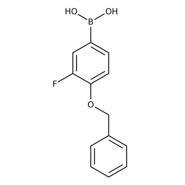 Alfa Aesar™4-Benzyloxy-3-Fluorbenzenboronsäure, 98 % 250mg Alfa Aesar™4-Benzyloxy-3-Fluorbenzenboronsäure, 98 %