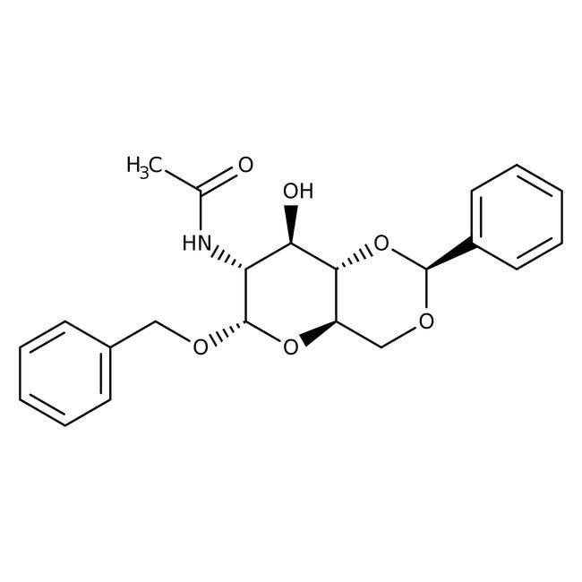 Alfa Aesar™Benzyl-2-acetamido-4,6-O-benzyliden-2-deoxy-alpha-D-glucopyranosid 500mg Alfa Aesar™Benzyl-2-acetamido-4,6-O-benzyliden-2-deoxy-alpha-D-glucopyranosid