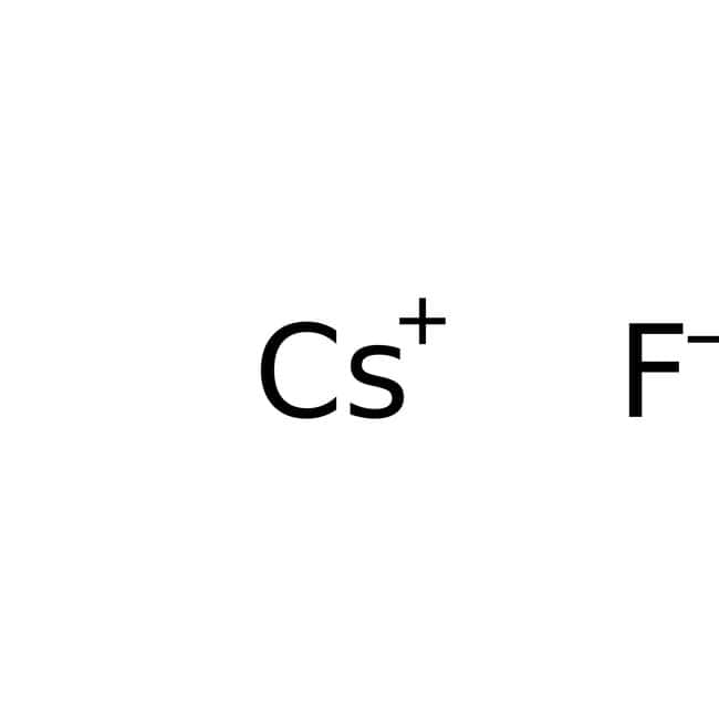 Cesium fluoride, 99%, for analysis, ACROS Organics™ 500g; Plastic bottle Cesium fluoride, 99%, for analysis, ACROS Organics™