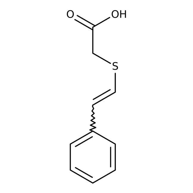 2-(Styrylthio)acetic acid, 97%, Maybridge Amber Glass Bottle; 10g 2-(Styrylthio)acetic acid, 97%, Maybridge