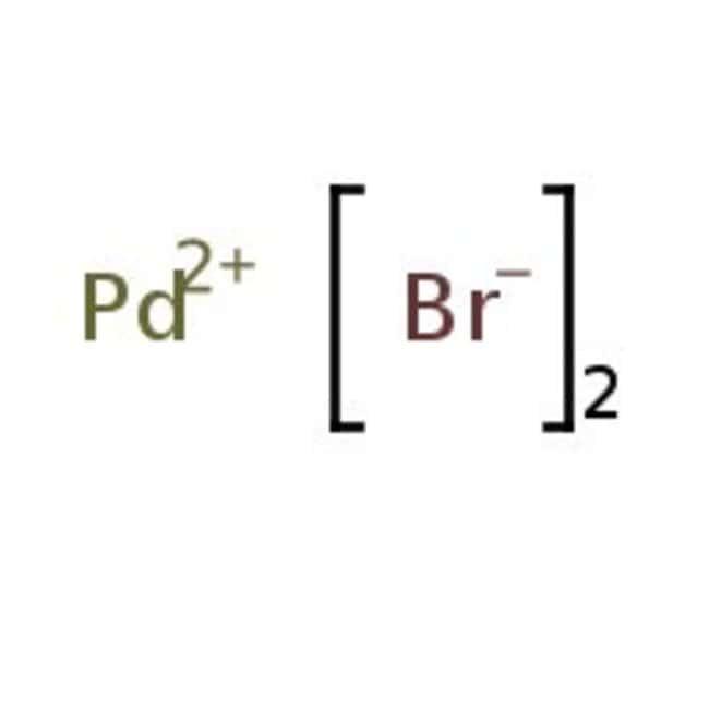 Palladium(II) bromide, 39.8-40.1% Pd, ACROS Organics™ 2g; Glass bottle Palladium(II) bromide, 39.8-40.1% Pd, ACROS Organics™