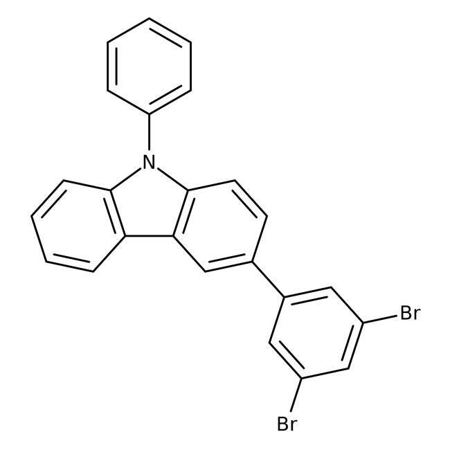 3-(3,5-Dibromophenyl)-9-phenyl-9H-carbazole 98.0 %, TCI America