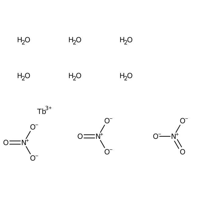 Terbium(III) nitrate hexahydrate, 99.99+%, (trace metal basis), Acros Organics 10g Terbium(III) nitrate hexahydrate, 99.99+%, (trace metal basis), Acros Organics