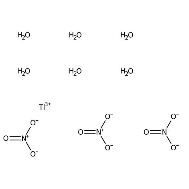 Alfa Aesar™Thallium(III) nitrate trihydrate, 99.5% (metals basis) 100g Alfa Aesar™Thallium(III) nitrate trihydrate, 99.5% (metals basis)