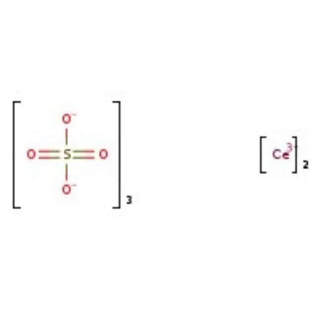 Cerium(III) sulfate, 99.9%, (REO=Rare Earth Oxides), Acros Organics 50g; Glass bottle Cerium(III) sulfate, 99.9%, (REO=Rare Earth Oxides), Acros Organics