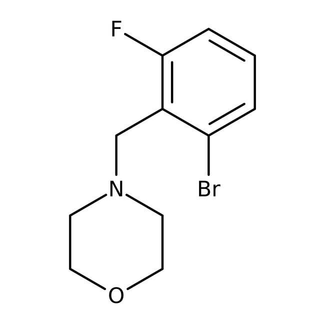 Alfa Aesar™4-(2-Bromo-6-fluorobenzyl)morpholine, 96% 5g Alfa Aesar™4-(2-Bromo-6-fluorobenzyl)morpholine, 96%