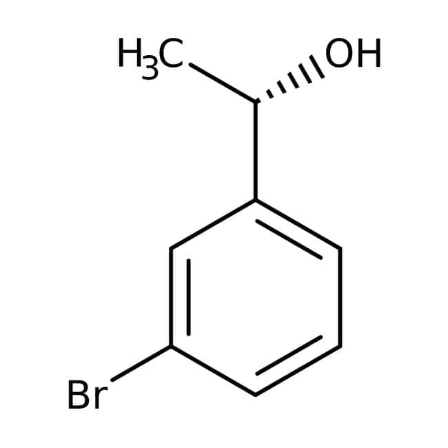 (S)-3-Bromo-alpha-methylbenzyl alcohol, 95%, 98% ee, ACROS Organics™ 1g; Glass bottle (S)-3-Bromo-alpha-methylbenzyl alcohol, 95%, 98% ee, ACROS Organics™