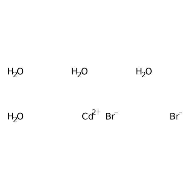 Cadmium bromide tetrahydrate, 98%, pure, ACROS Organics™ 100g Cadmium bromide tetrahydrate, 98%, pure, ACROS Organics™