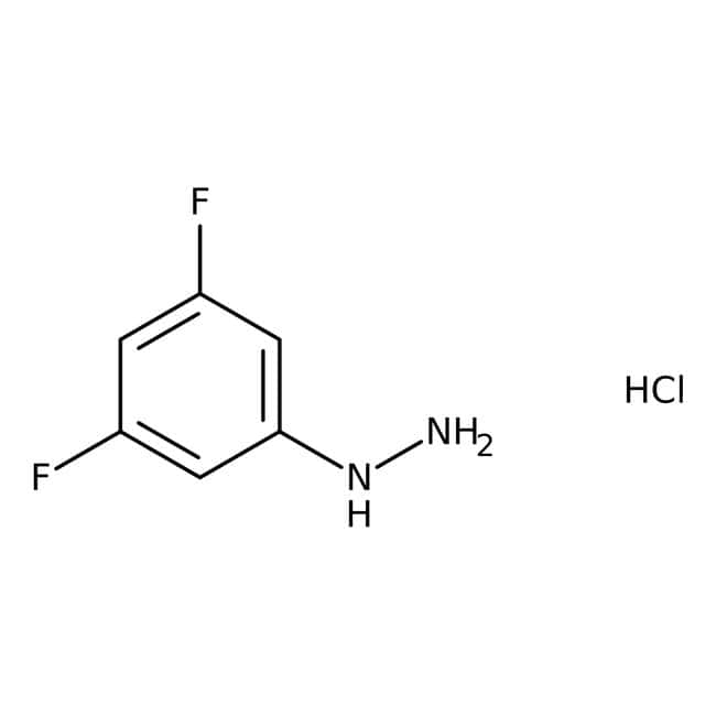 3,5-Difluorophenylhydrazine hydrochloride, 97+%, ACROS Organics™: Benzene and substituted derivatives Benzenoids