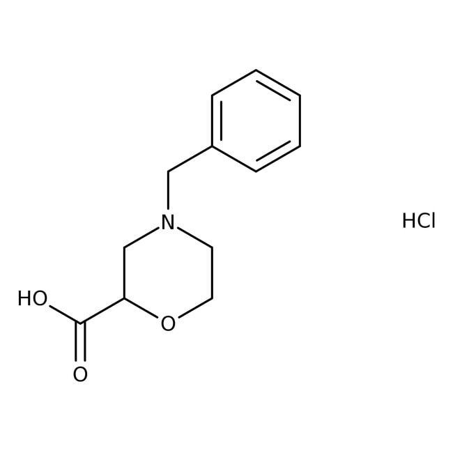 4-Benzyl-2-morpholincarboxylsäurehydrochlorid, 97%, Maybridge Braunglasflasche, 250mg 4-Benzyl-2-morpholincarboxylsäurehydrochlorid, 97%, Maybridge