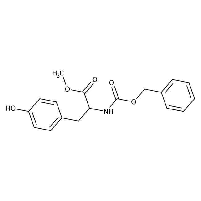 Alfa Aesar™N-Benzyloxycarbonyl-L-tyrosine methyl ester, 98% 100g Alfa Aesar™N-Benzyloxycarbonyl-L-tyrosine methyl ester, 98%