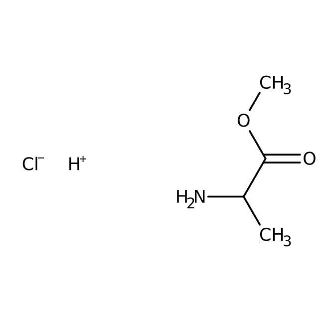 DL-Alanine methyl ester hydrochloride, 98+%, ACROS Organics™ 25g; Glass bottle DL-Alanine methyl ester hydrochloride, 98+%, ACROS Organics™