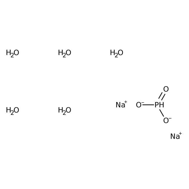 Sodium phosphite dibasic pentahydrate, 98%, ACROS Organics™ 1kg, Glass bottle Sodium phosphite dibasic pentahydrate, 98%, ACROS Organics™