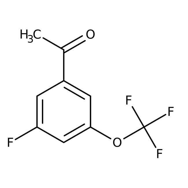 Alfa Aesar™3'-Fluoro-5'-(trifluoromethoxy)acetophenone, 97% 250mg Alfa Aesar™3'-Fluoro-5'-(trifluoromethoxy)acetophenone, 97%