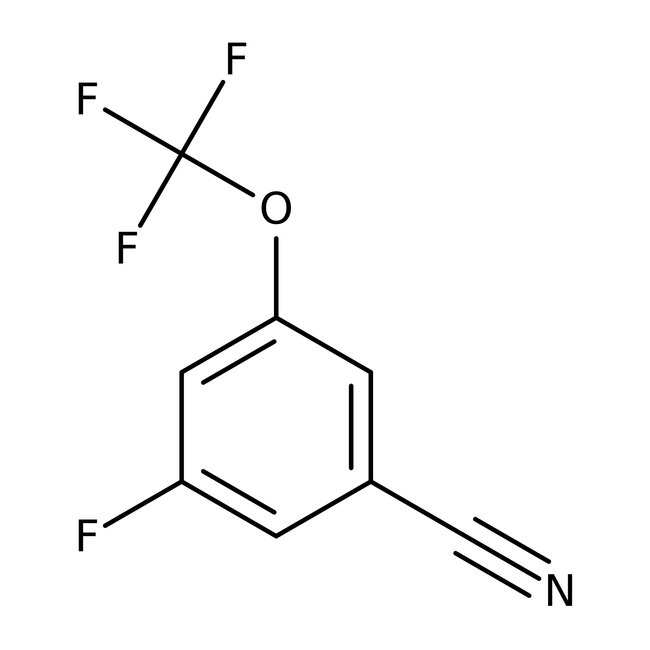 Alfa Aesar™3-Fluoro-5-(trifluoromethoxy)benzonitrile, 97% 1g Alfa Aesar™3-Fluoro-5-(trifluoromethoxy)benzonitrile, 97%