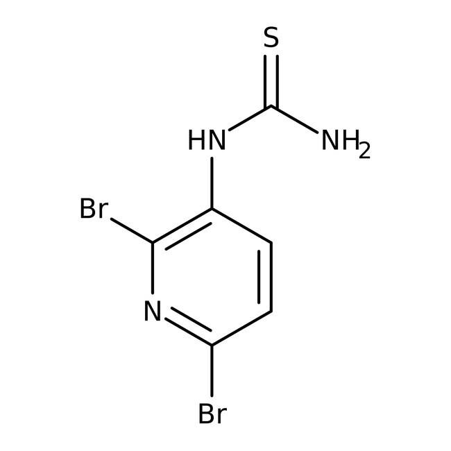 Alfa Aesar™N-(2,6-Dibromo-3-pyridyl)thiourea, 97+% 1g Alfa Aesar™N-(2,6-Dibromo-3-pyridyl)thiourea, 97+%