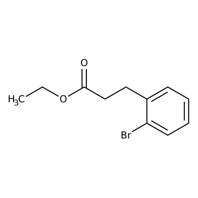 Alfa Aesar™Ethyl 3-(2-bromophenyl)propionate, 98% 5g Alfa Aesar™Ethyl 3-(2-bromophenyl)propionate, 98%