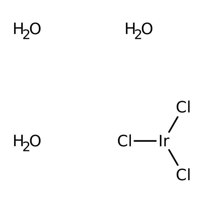Iridium(III) chloride trihydrate, 53-56% Ir, ACROS Organics