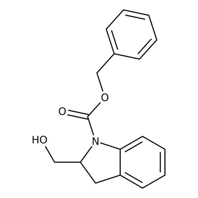 Benzyl 2-(hydroxymethyl)-1-indolinecarboxylate, ≥95%, Maybridge: Indolecarboxylic acids and derivatives Indoles and derivatives
