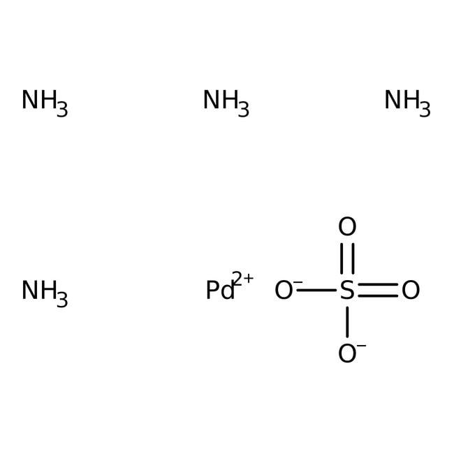Alfa Aesar™Tetraamminpalladium(II)-sulfat, 99.9% (Metallbasis), Pd 37.4% min. 1g Alfa Aesar™Tetraamminpalladium(II)-sulfat, 99.9% (Metallbasis), Pd 37.4% min.