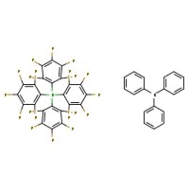 Trityl Tetrakis(pentafluorophenyl)borate, 97%, ACROS Organics™ 5g; Glass bottle Trityl Tetrakis(pentafluorophenyl)borate, 97%, ACROS Organics™