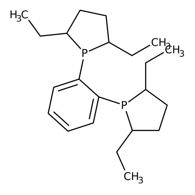 (-)-1,2-Bis[(2R,5R)-2,5-diethyl-1-phospholanyl]benzene, 97+%, Alfa Aesar™