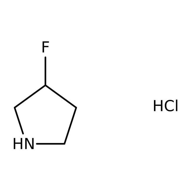 (S)-3-Fluoropyrrolidine hydrochloride, 97%, ACROS Organics™ 5g (S)-3-Fluoropyrrolidine hydrochloride, 97%, ACROS Organics™