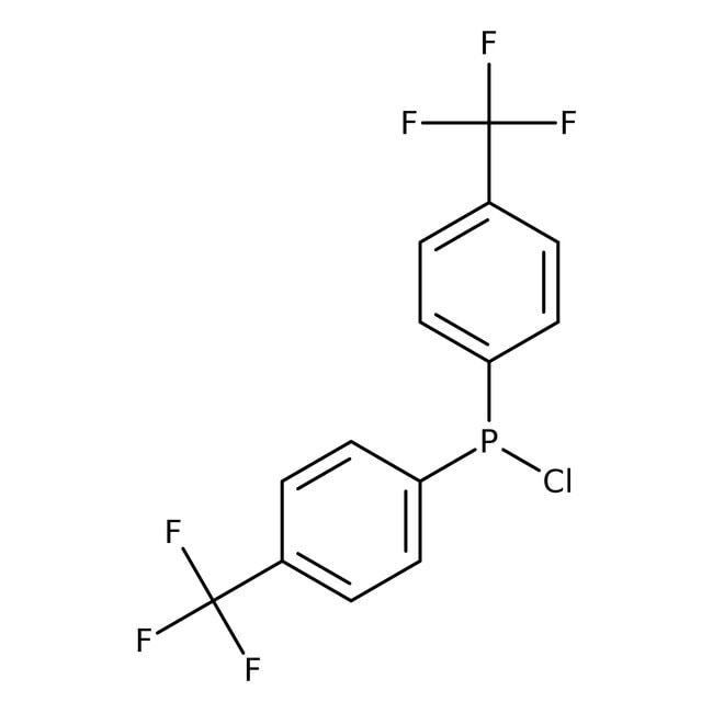 Chlorobis[4-(trifluoromethyl)phenyl]phosphine, 97%, Alfa Aesar™ 1g Chlorobis[4-(trifluoromethyl)phenyl]phosphine, 97%, Alfa Aesar™