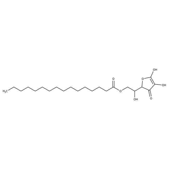 L(+)-Ascorbyl palmitate, specified according to requirements of USP/Ph.Eur., Acros Organics 100g, Glass bottle L(+)-Ascorbyl palmitate, specified according to requirements of USP/Ph.Eur., Acros Organics